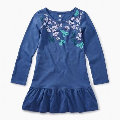 Vibrant Blossoms Ruffle Dress