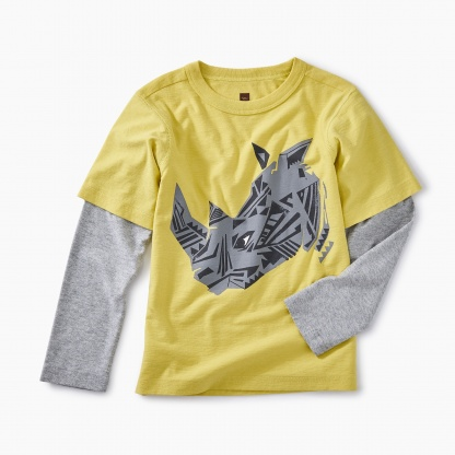 Geo Rhino Layered Graphic Tee