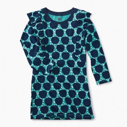 Printed Ruffle Shoulder Dress