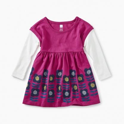 Layered Sleeve Baby Dress