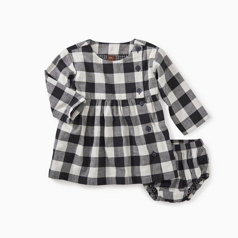 Checkered Plaid Baby Dress