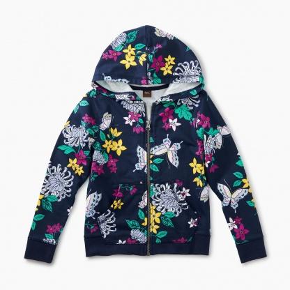 Blooms & Butterflies Zip Hood