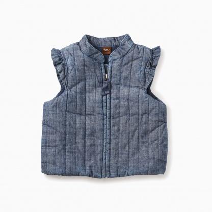 Citizen Chambray Zip Baby Vest