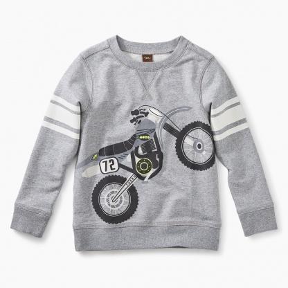 Moto Bike Graphic Sweatshirt