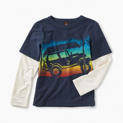 Sunset Ride Layered Graphic Tee