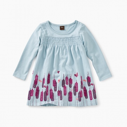 Smocked Graphic Baby Dress