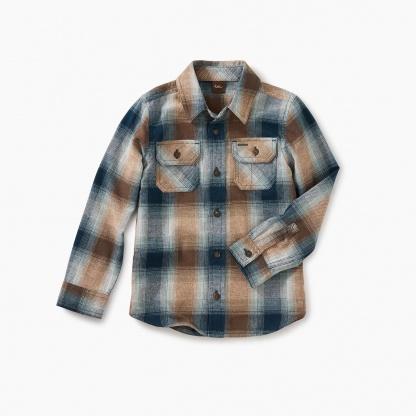 Flannel Plaid Button Shirt
