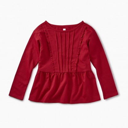 Pleated Pintuck Top