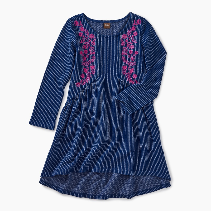 Embroidered Hi-Lo Dress