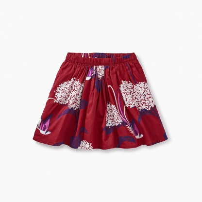 Snow Blooms Twirl Skirt