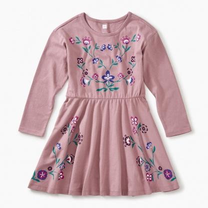 Nordic Floral Skater Dress