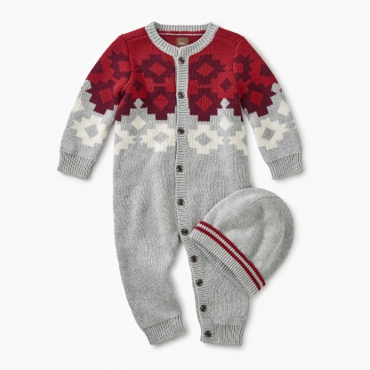 Tularosa Geo Sweater Romper Set