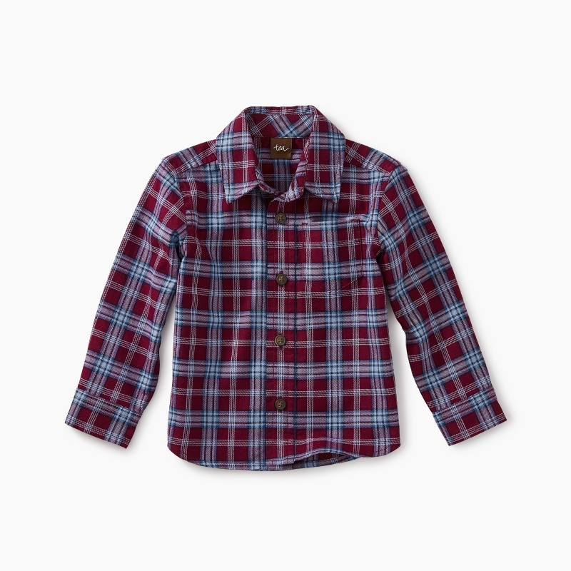 Lakeshore Plaid Baby Button Shirt