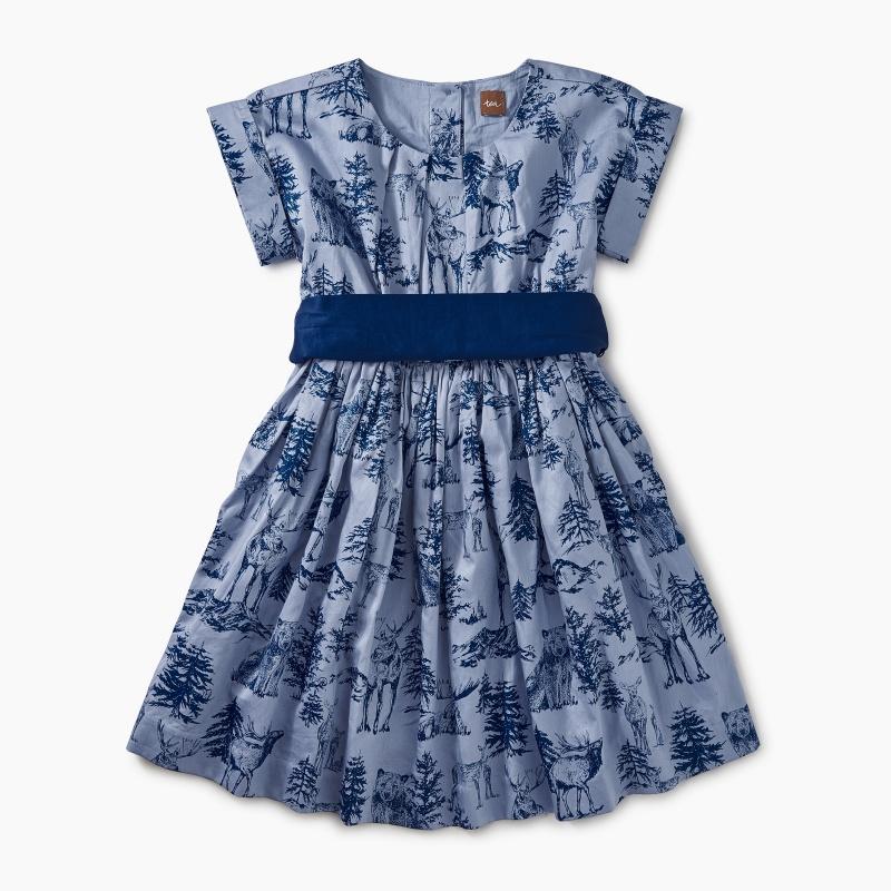 Patterned Sash Dress