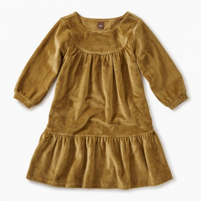 Velour Ruffle Dress