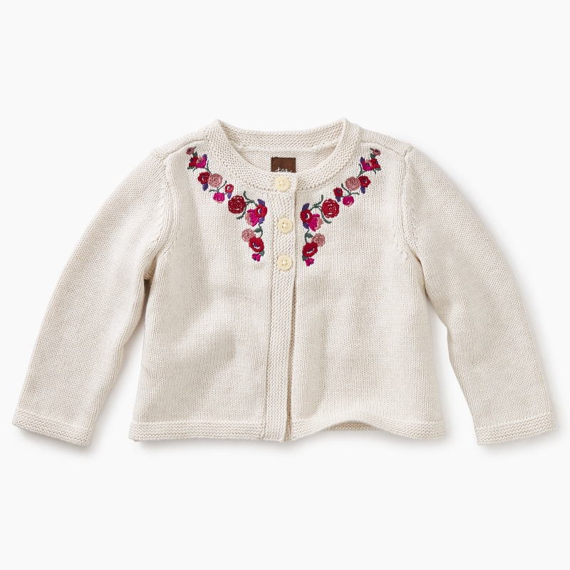 Embroidered Baby Cardi
