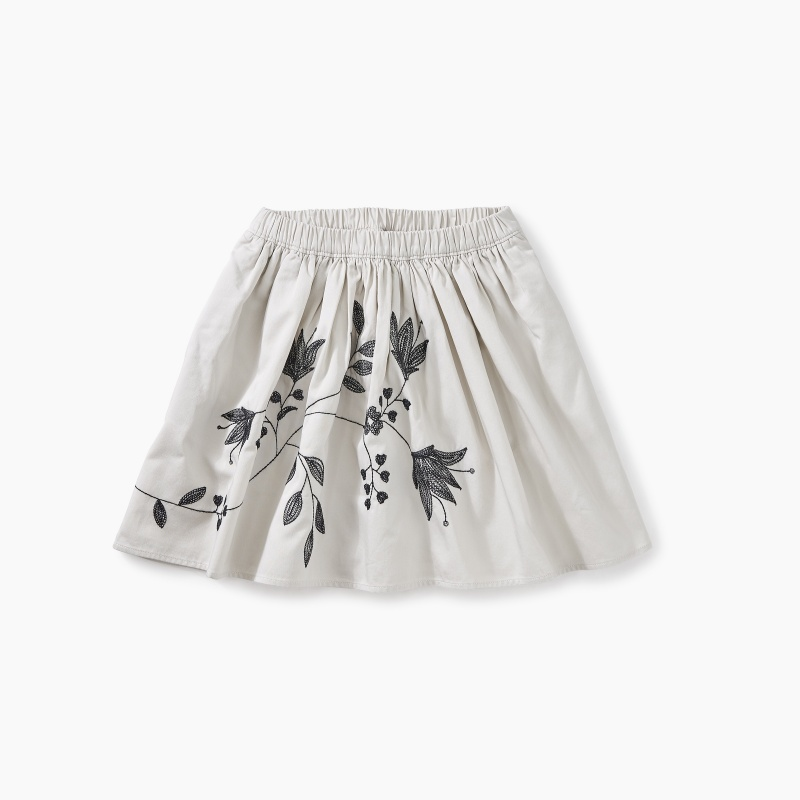Embroidered Twirl Skirt