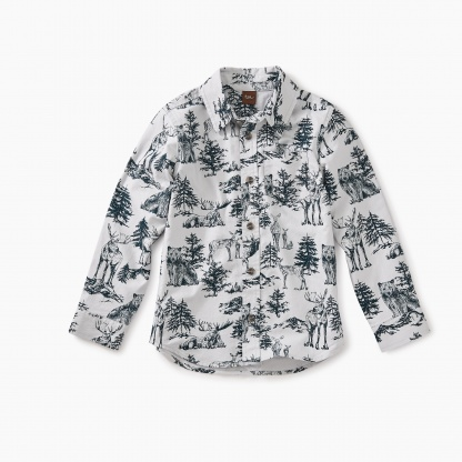 Forest Toile Button Shirt