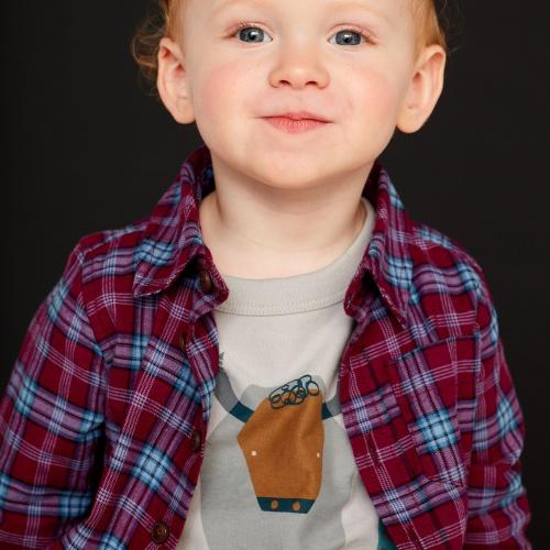 Lakeshore Plaid Baby Button Shirt