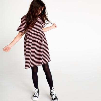 Patterned Ruffle Sleeve Dress