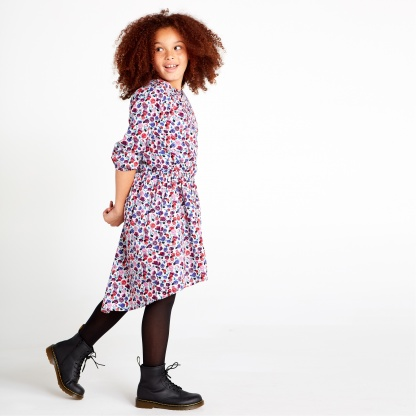 Pattern Hi-Lo Dress