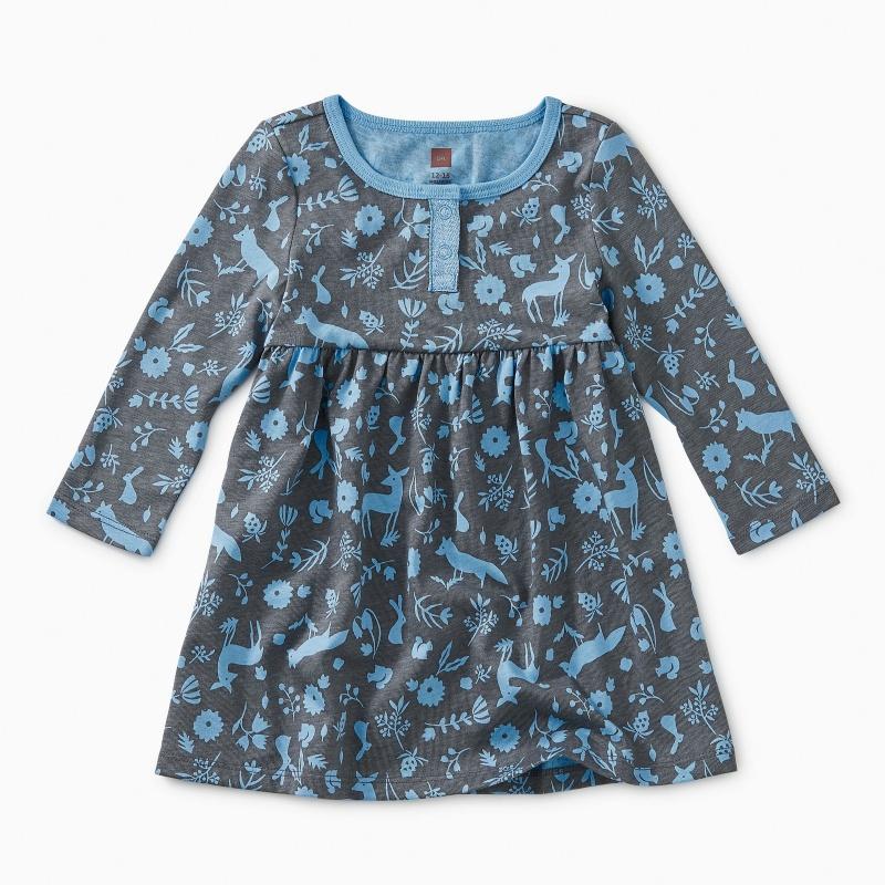 Sparkle Henley Baby Dress