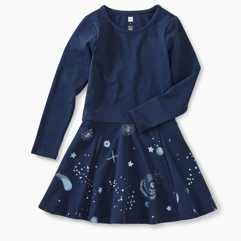 Starry Skies Skirted Dress