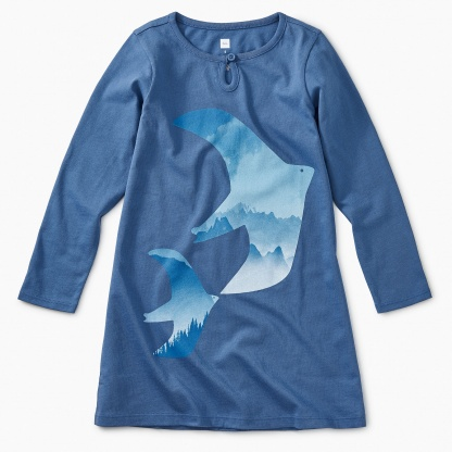 Flock of Doves Graphic Dress