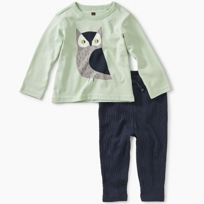Wise Owl Baby Outfit