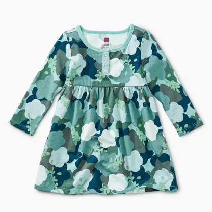 Sparkle Henley Baby Dress