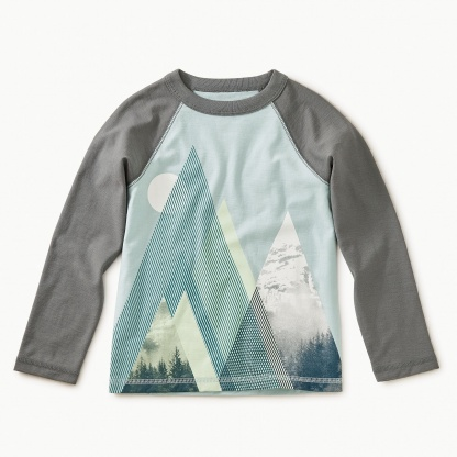 Moonlit Mountains Raglan Tee