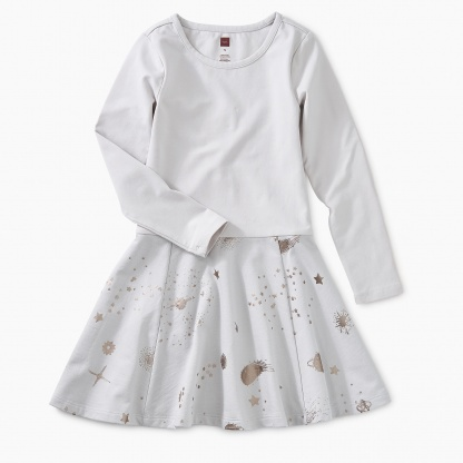 Starry Skies Skirted Dress