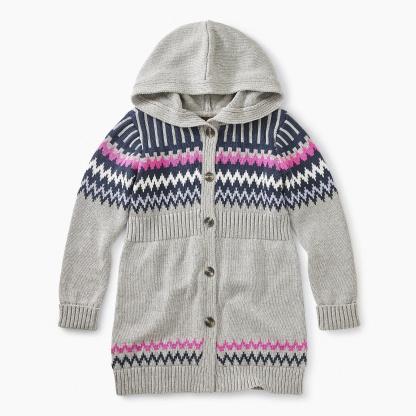 Fairisle Hooded Sweater Duster
