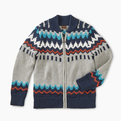 Fairisle Zip Cardigan