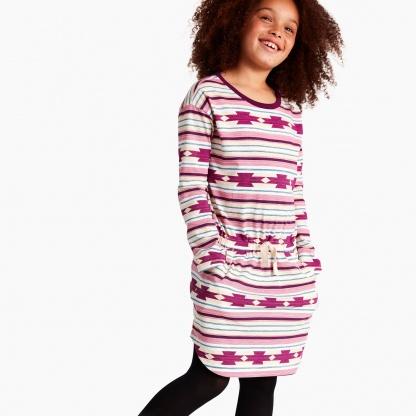 Patterned Sporty Mini Dress
