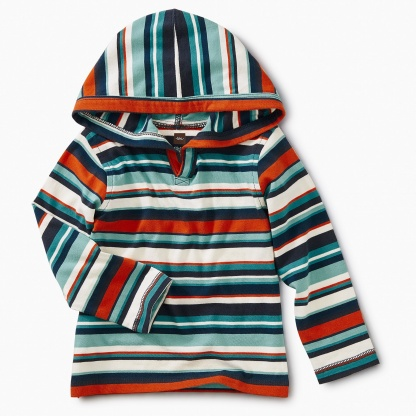 Striped Baby Happy Hoodie