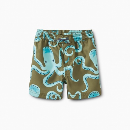Patterned Baby Swim Trunks