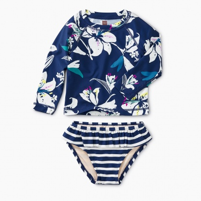 Tropical Lillies Rash Guard Set