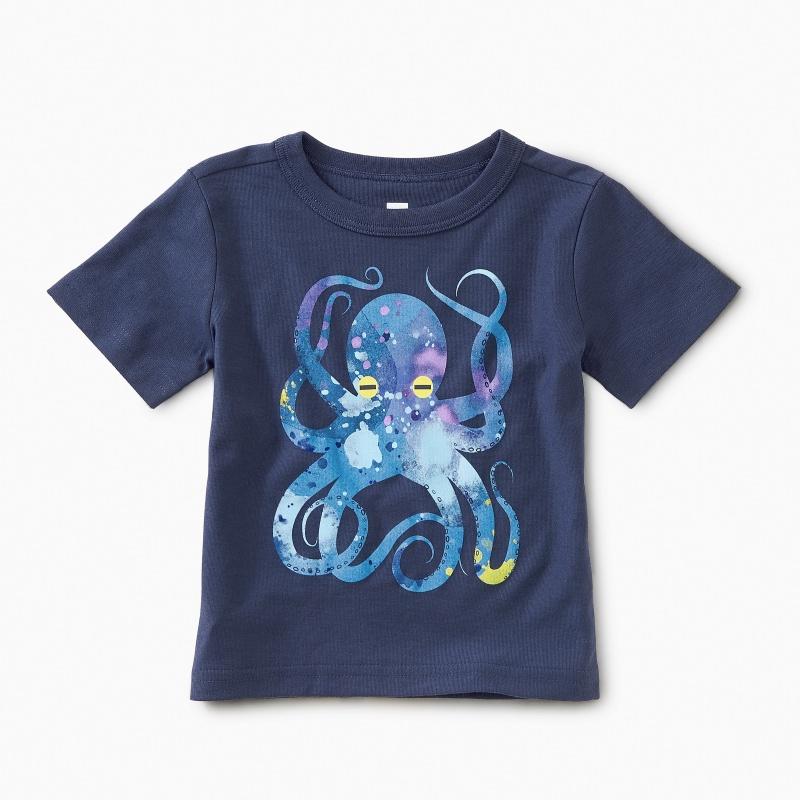 Pop Octopus Baby Graphic Tee