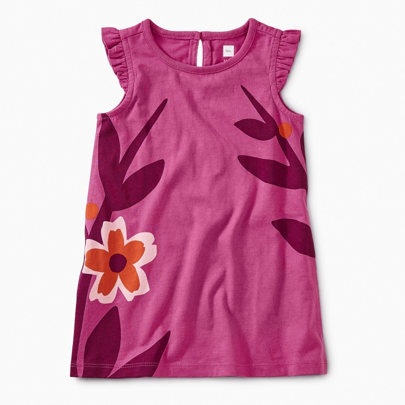 Island Blooms Graphic Dress