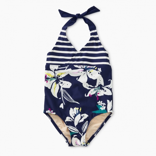 Tropical Lillies Halter One Piece
