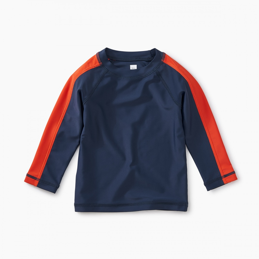 Sporty Stripe Baby Rash Guard