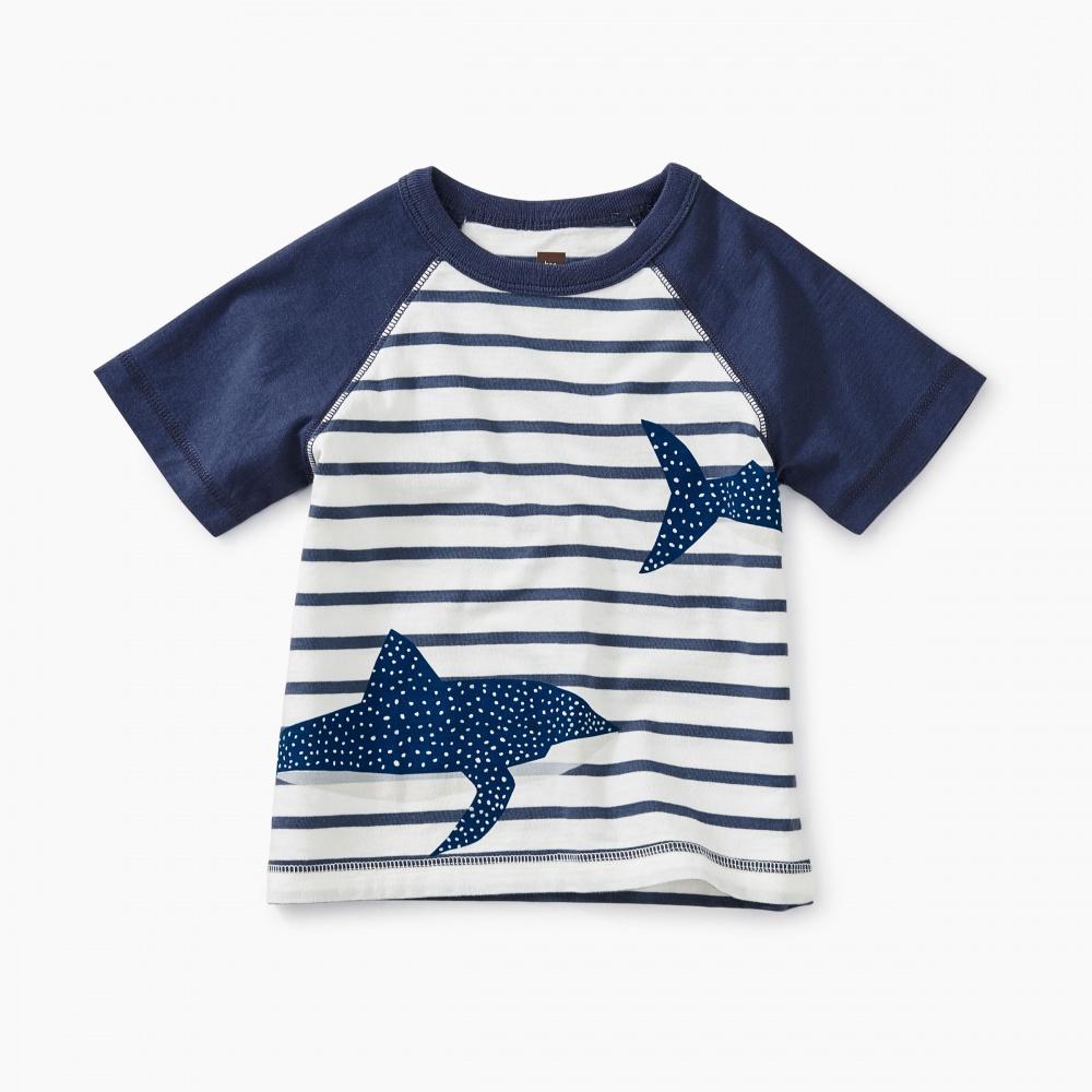 Shark Raglan Baby Graphic Tee