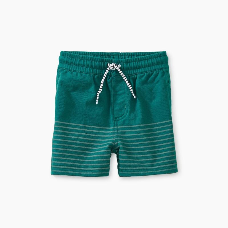 Half Print Knit Baby Shorts