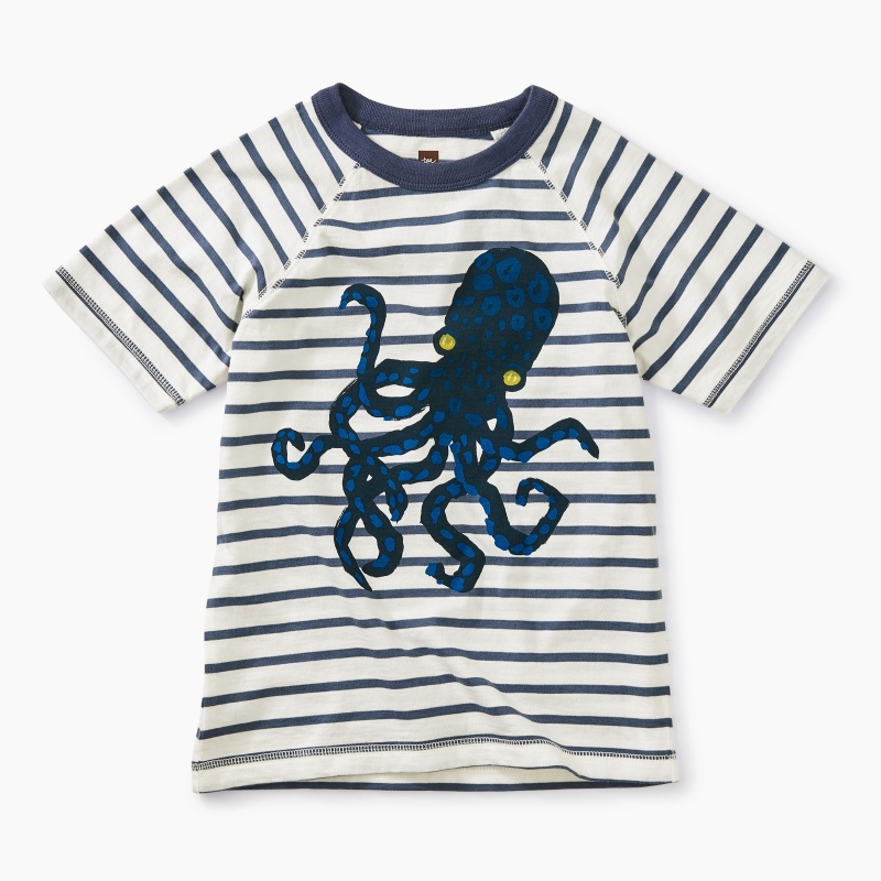 Octopus Striped Graphic Tee