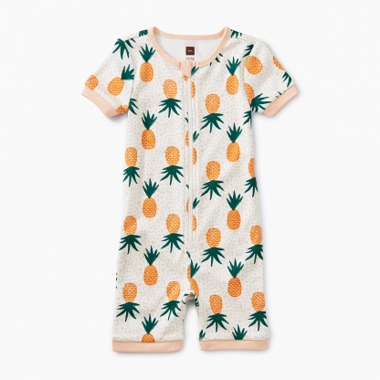 Printed Short Sleeve Baby Pajamas