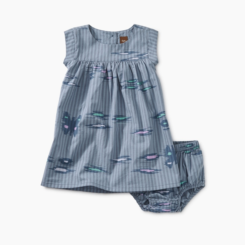 Ikat Striped Baby Dress