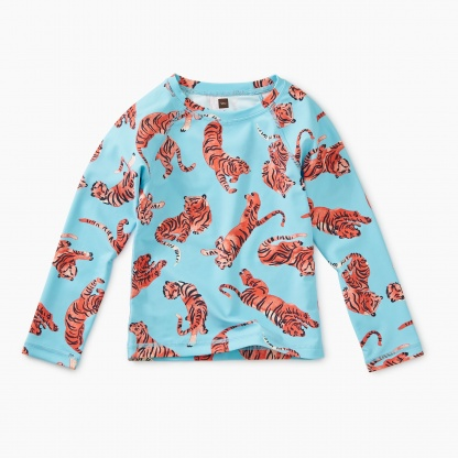 Printed Long Sleeve Rash Guard
