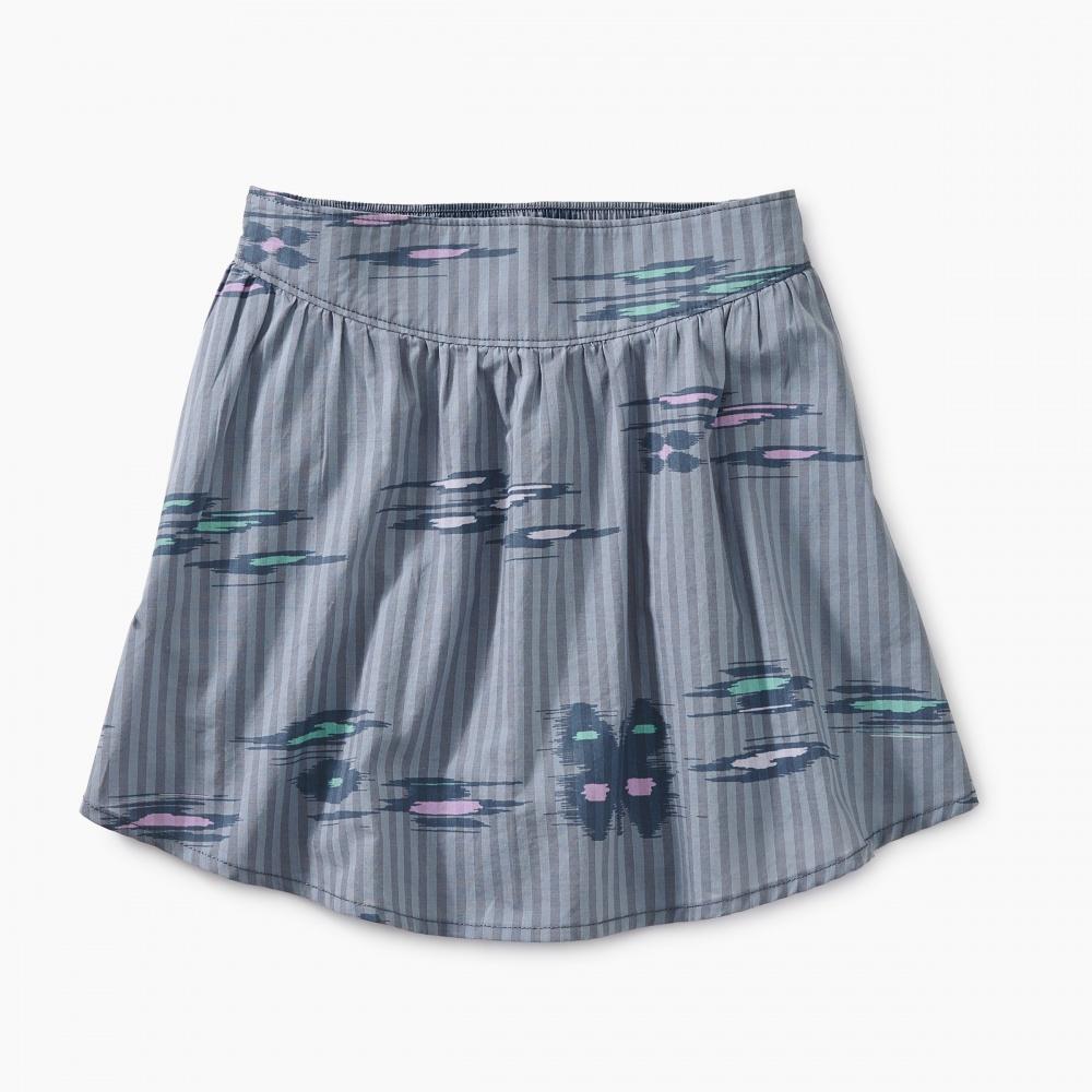 Ikat Striped Shirttail Skirt