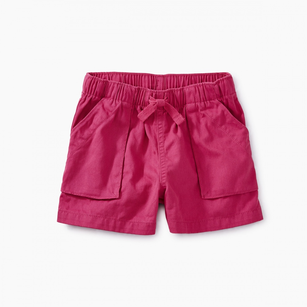 Solid Woven Pull-On Shorts